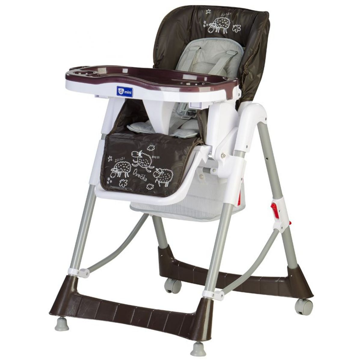 Jídelní židle Mira, tmavě hnědá - ovečka