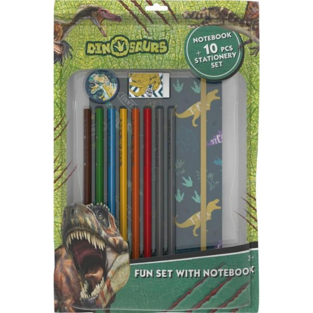 Jiri Models Balíček s blokem Dinosauři
