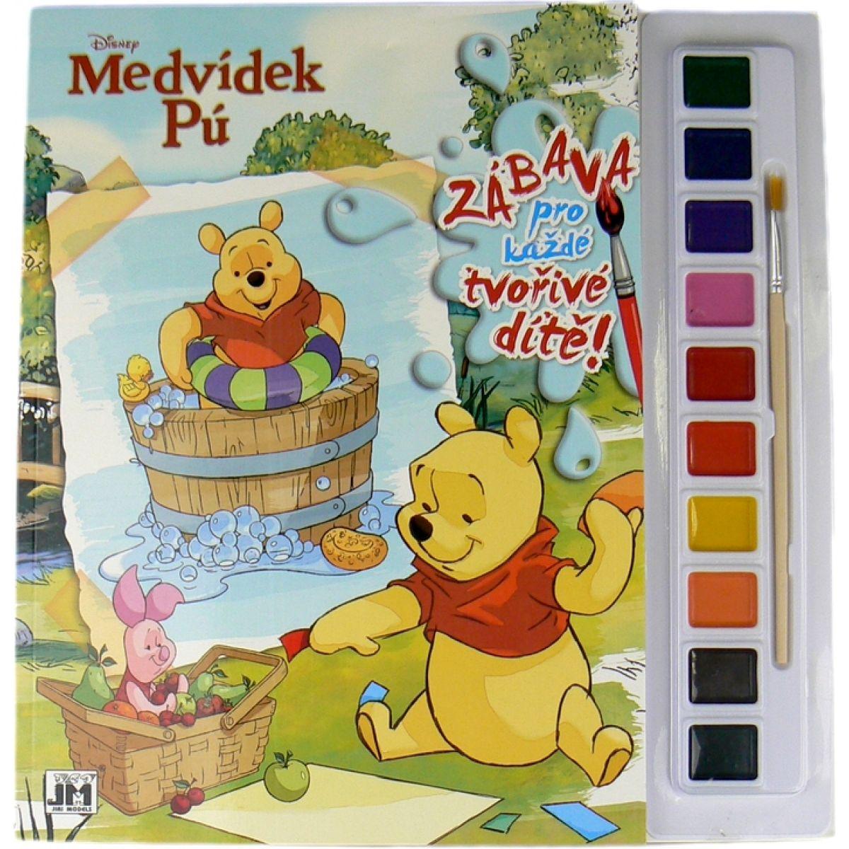 Jiri Models Disney Omalovánky s barvami A4 Medvídek Pú