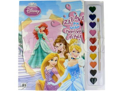 Jiri Models Disney Omalovánky s barvami A4 Princezny