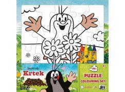 Jiri Models Krtek Omalovánky puzzle s voskovkami