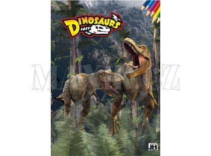 Jiri Models Omalovánky A4 Dinosaurs