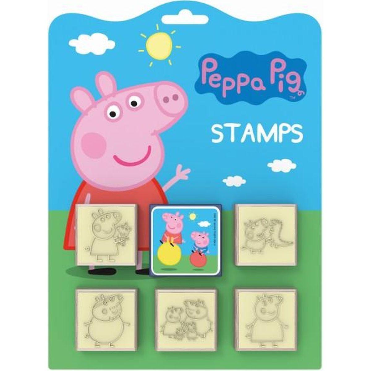 Jiří Models Peppa Pig Razítka 5+1 Prasátko Peppa