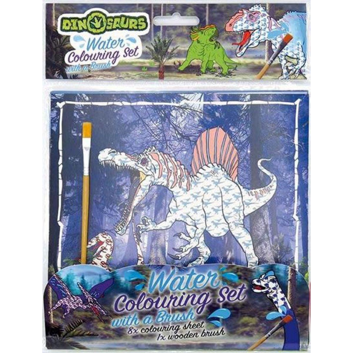 Jiri Models Vodové omalovánky štětec Dinosauři