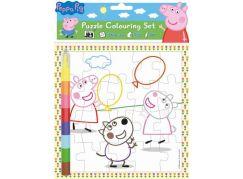 Jiri Models Vybarvovací puzzle Prasátko Peppa Pig