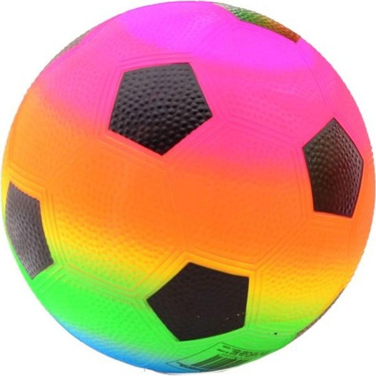 John Toys Duhový míč 20 cm pětiúhelníky