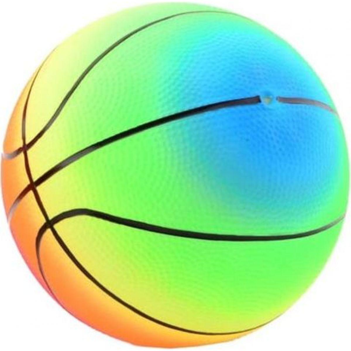 John Toys Duhový míč 20 cm proužky