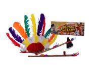 John toys Indiánská sada s tomahawkem, čelenkou a dýmkou