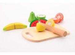 Jouéco Dřevěné ovoce s prkénkem a nožem