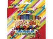 Jumbo Voskovky trojhranné 12 barev