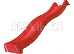 Jungle Gym Červená skluzavka 265 cm s přípojkou pro hadici