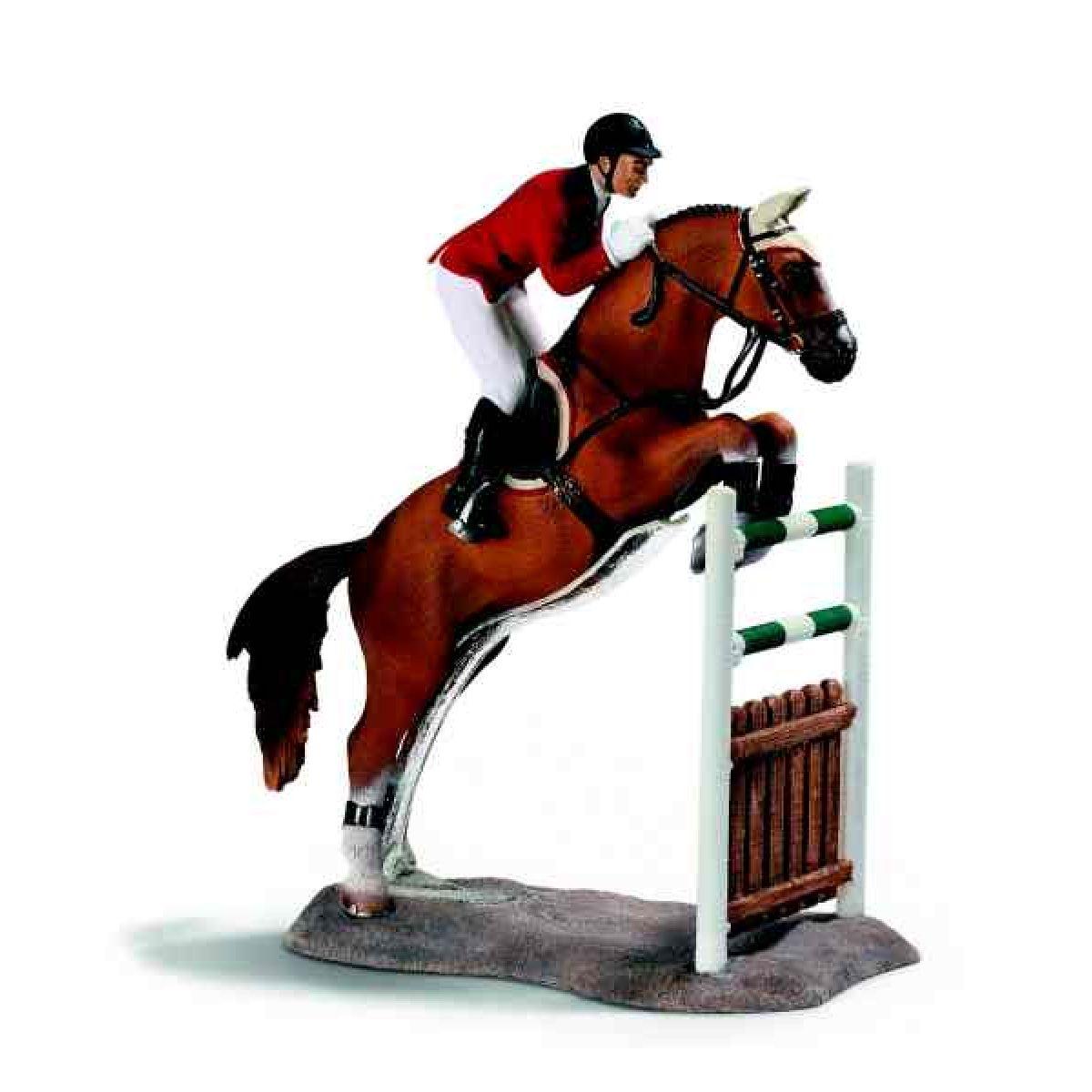 Kůň skákající přes překážku Schleich 42026