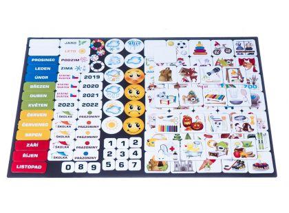 Kalendář magnetický - Školka 114 ks magnetek
