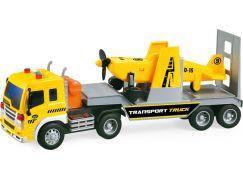Kamion s letadlem na baterie