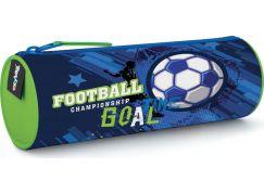 Karton P+P Pouzdro etue kulatá fotbal modré