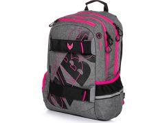 Karton P+P Studentský batoh Oxy Sport Grey Line pink