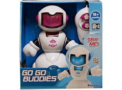 Keenway Robot na kabel s ovladáním - Bílo-růžový