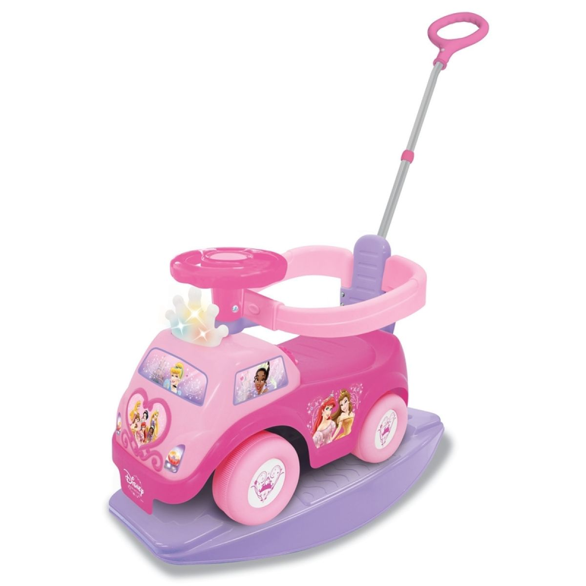 Kiddieland Odrážedlo Disney Princess s houpačkou 4v1