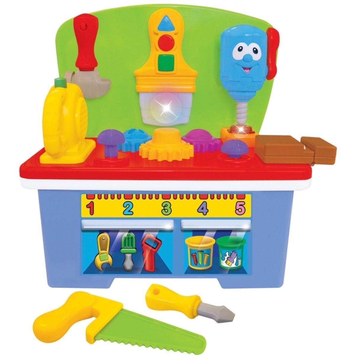 Kiddieland Pracovní stůl s nářadím, zvukem a světlem