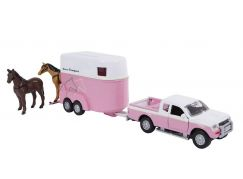 Kids Globe Dodávka Mitsubishi L200 s přívěsem pro koně