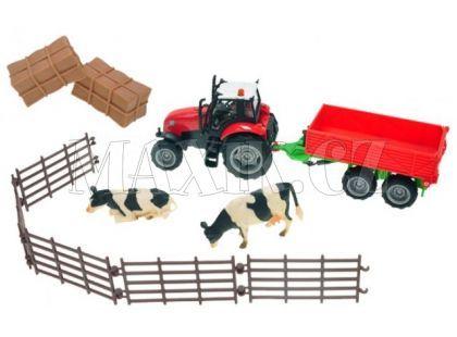 Kids Globe Farmářská sada s traktorem