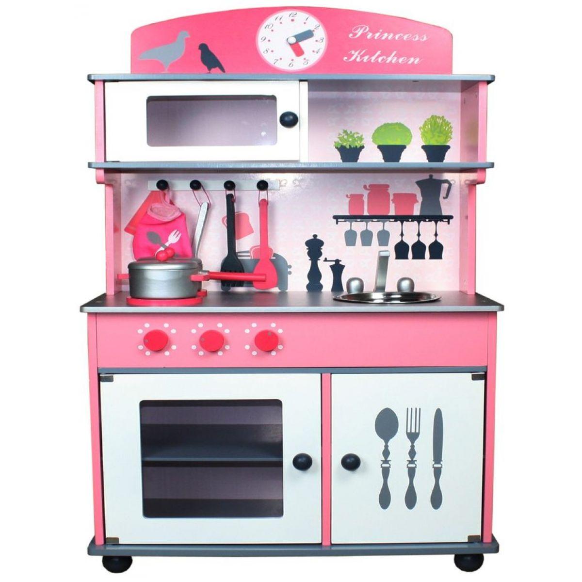 KidsHome Dřevěná kuchyňka s příslušenstvím 100cm