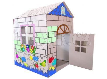 KidsHome Vymalovávácí domek 84x89x115cm