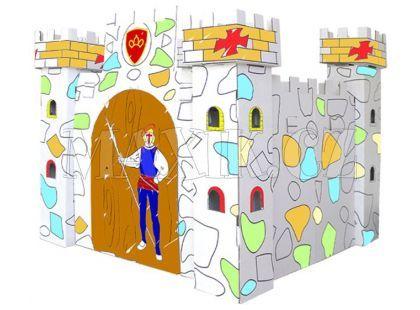 KidsHome Vymalovávácí hrad 86x86x80cm