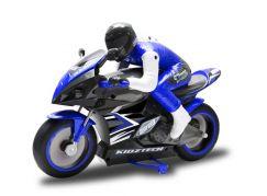 Kidztech RC závodní motorka modrá