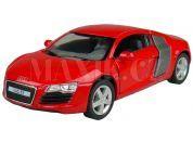 Kinsmart Auto Audi R8 na zpětné natažení 13cm - Červená