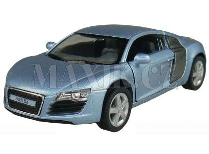 Kinsmart Auto Audi R8 na zpětné natažení 13cm - Modrá