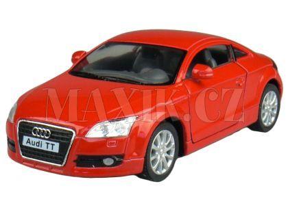 Kinsmart Auto Audi TT Coupé na zpětné natažení 13cm - Červená