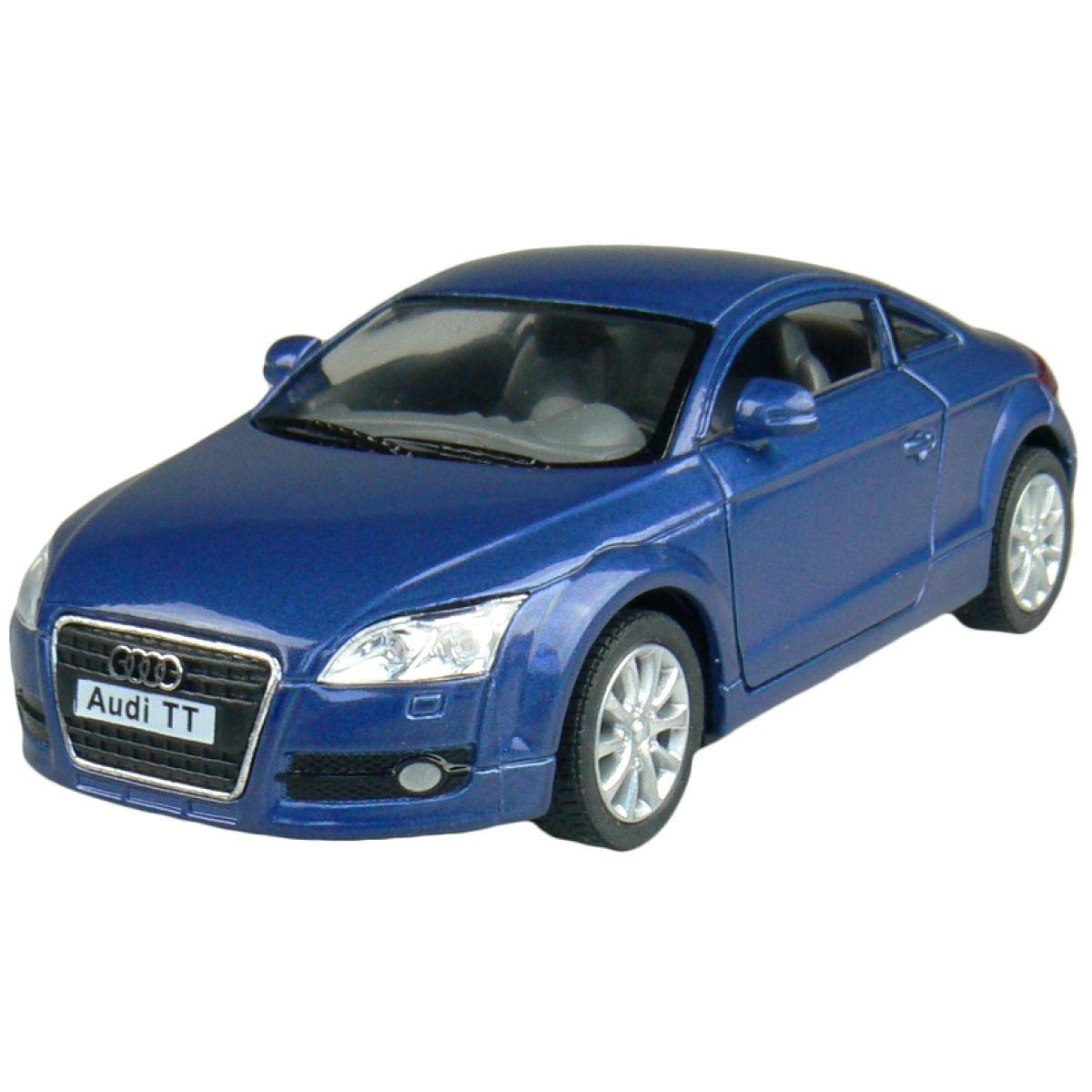 Kinsmart Auto Audi TT Coupé na zpětné natažení 13cm - Modrá