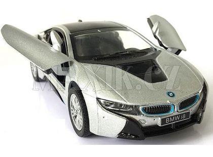 Kinsmart Auto BMW i8 - Stříbrná