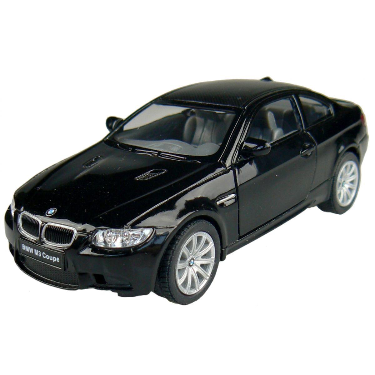 Kinsmart Auto BMW M3 Coupe na zpětné natažení 13cm - Černá