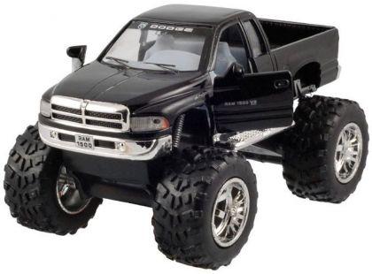 Kinsmart Auto Dodge Ram velká kola na zpětné natažení 12cm - Černá