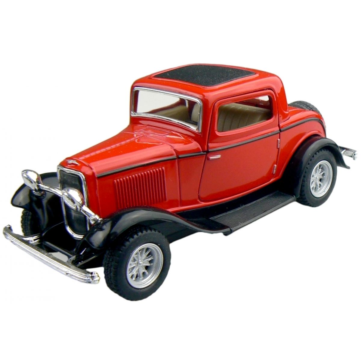 Kinsmart Auto Ford 3 Window Coupe 1932 - Červený