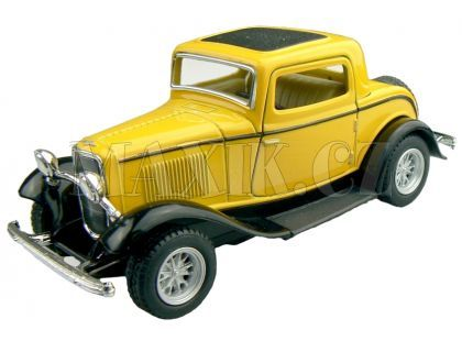 Kinsmart Auto Ford 3 Window Coupe 1932 - Žlutý