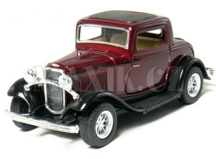 Kinsmart Auto Ford 3 Window Coupe 1932 - Vínový