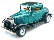Kinsmart Auto Ford 3 Window Coupe 1932 - Zelený