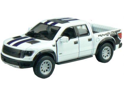 Kinsmart Auto Ford F-150 SVT Raptor Supercrew 12,5cm - Bílá