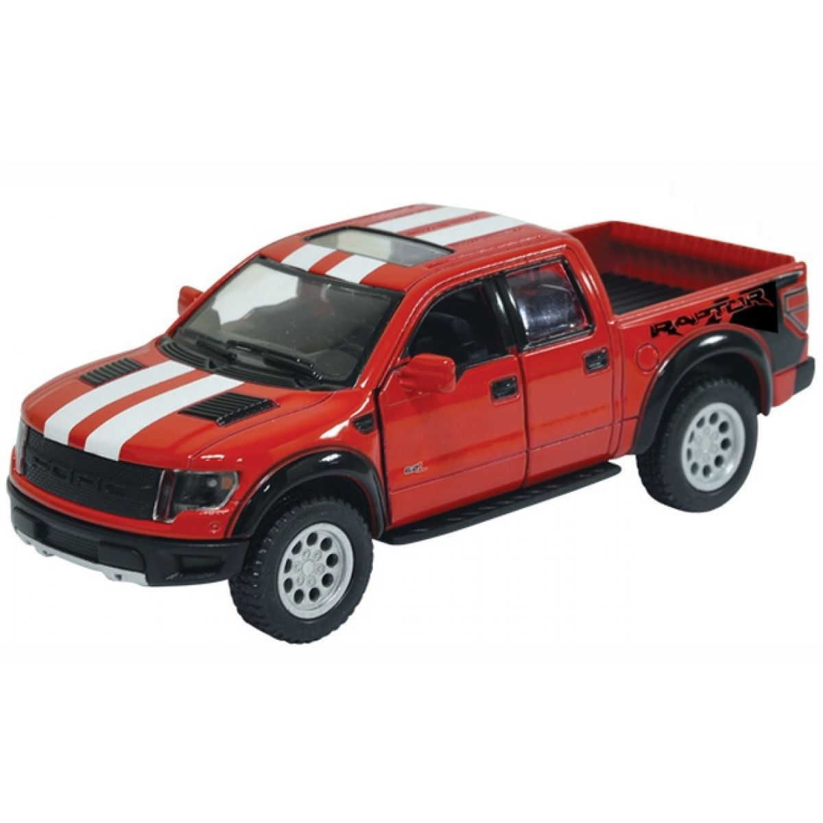 Kinsmart Auto Ford F-150 SVT Raptor Supercrew 12,5cm - Červená