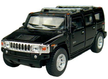 Kinsmart Auto Hummer H2 na zpětné natažení 12cm - Černá