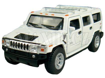 Kinsmart Auto Hummer H2 na zpětné natažení 12cm - Bílá