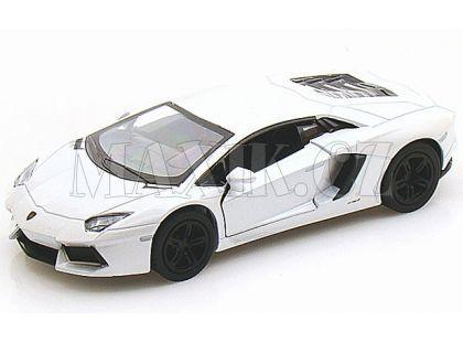 Kinsmart Auto Lamborghini Aventador na zpětné natažení 13cm - Bílá