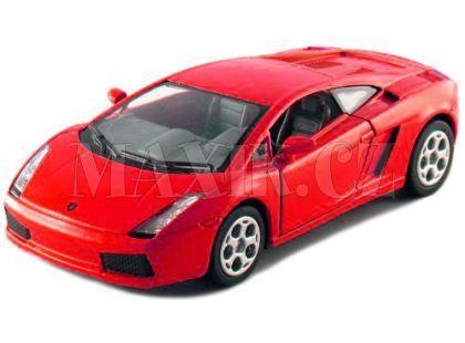 Kinsmart Auto Lamborghini Gallardo na zpětné natažení 12cm - Červená