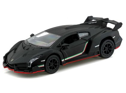 Kinsmart Auto Lamborghini na zpětné natažení 13 cm - Veneno černé