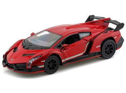 Kinsmart Auto Lamborghini na zpětné natažení 13 cm - Veneno červené