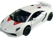 Kinsmart Auto Lamborghini Sesto Elemento 12cm - Bílá