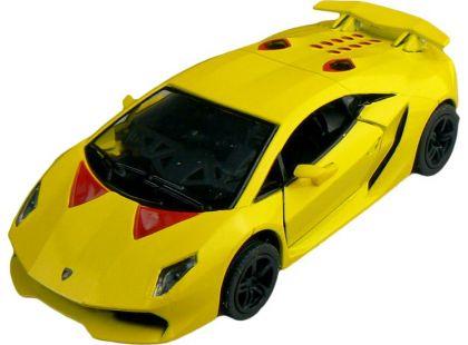 Kinsmart Auto Lamborghini Sesto Elemento 12cm - Žlutá